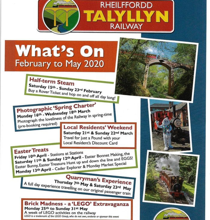 Talyllyn Railway – What's on 2020