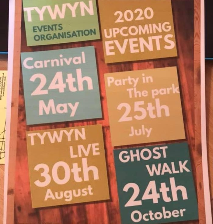 Upcoming events in Tywyn 2020